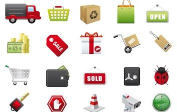 E-Commerce Vector Icons - vector gratuit #178745