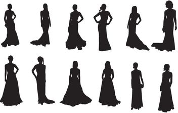 The Red Carpet:20 celebrities silhouettes - бесплатный vector #178765