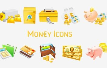 Money Vista Icons - vector gratuit #178845