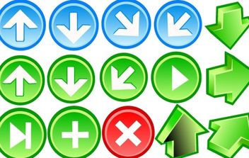Arrow Icons - vector gratuit #178965