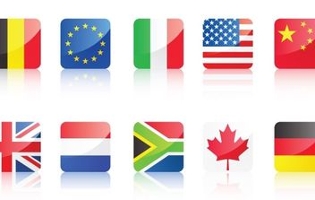 World Flags - vector gratuit #178975