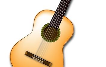 Spanish Guitar Vector - Free vector #179065