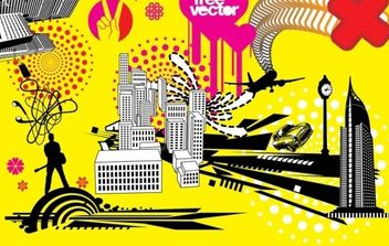 City Urban Funky style - Kostenloses vector #179085