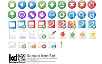 Kameo Icon Set - vector #179105 gratis