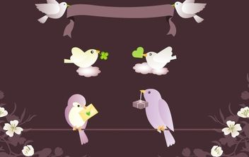 Birds Messages Vector Graphics - vector gratuit #179245