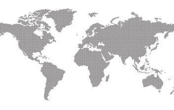 Dotted World Map - vector gratuit #179325