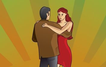 Tango couple dancing - Free vector #179445