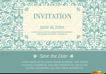 Marriage invitation with elegant frame pattern - vector gratuit #179565