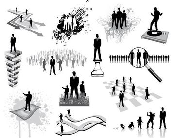 Silhouette Business and Career Oriented People Set - Free vector #179575