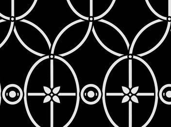 Vintage Curved Line & Circle Pattern - Free vector #179645