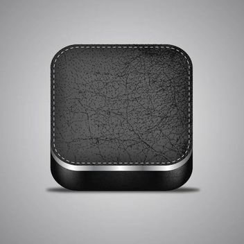 Stylish 3D Realistic Leather App Icon - бесплатный vector #179685