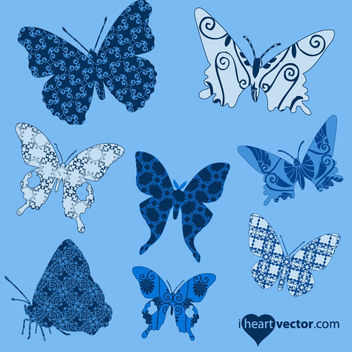 Butterfly Pack with Pattern Wings - Free vector #179695