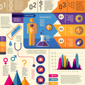 Health & Medical Retro Infographic - vector #179775 gratis