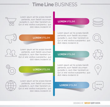 Timeline business development infographic - vector gratuit #179795