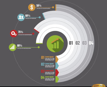 Circle infographics business development - vector #179835 gratis