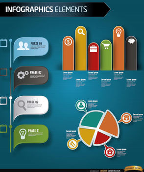 Phases of Business growth infographics - vector gratuit #179845