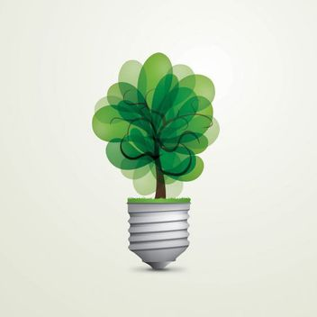 Green Eco Light Bulb - vector gratuit #179955