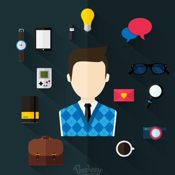 Minimal Various Business Icon Set - Free vector #179965
