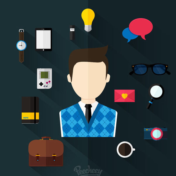Un minimum diverses affaires Icon Set - vector gratuit #179965