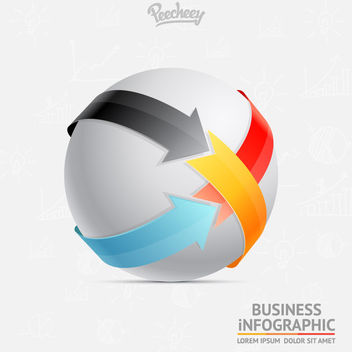 Colorful Arrows Wrapping Sphere - бесплатный vector #179985