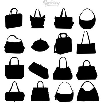 Fashionable Ladies Parts Pack Silhouette - Free vector #180005