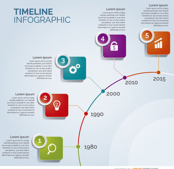 Timeline circle infographic - Free vector #180015