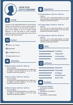 Male Resume editable text fields - Free vector #180045
