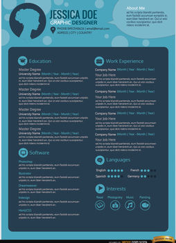 Blue Curriculum Template - vector gratuit #180055