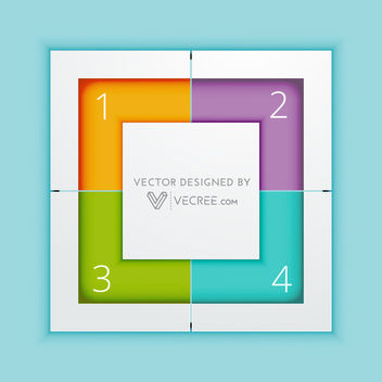 Multicolor Squared Infographic Template - vector gratuit #180075
