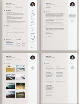 Classic Style Elegant 4 Pages CV Template - Kostenloses vector #180085