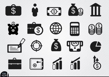 20 Money investments and savings icons - vector gratuit #180135