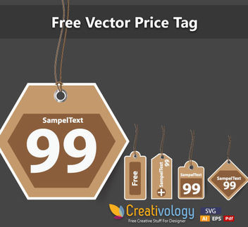 Vintage Price Tag Set - Free vector #180275
