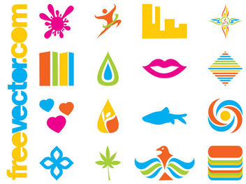 Colorful Corporate Icons Pack - vector gratuit #180295