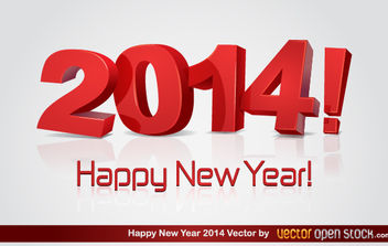 3D happy new year 2014 - Kostenloses vector #180305