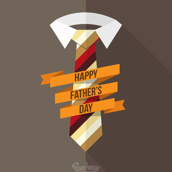 Father's Day Greeting Concept - vector #180365 gratis