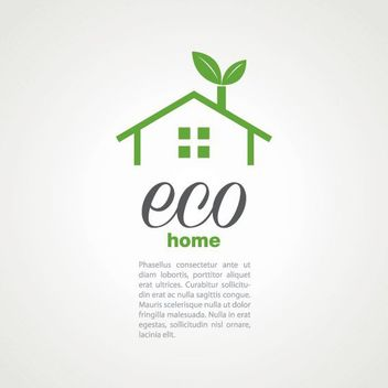 Fresh Ecology Concept Home - Free vector #180375