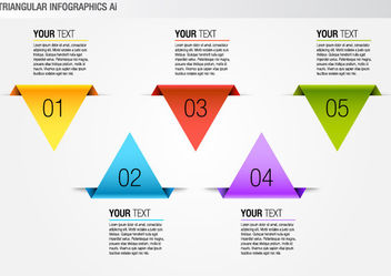 Colorful Triangular Info-graphic Pack - vector gratuit #180465