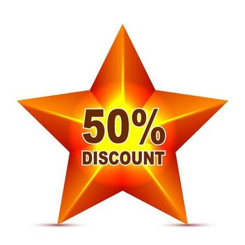 Red Star Discount Tag - Free vector #180525