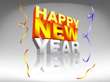 3D New Year Design Typography Template - Kostenloses vector #180615