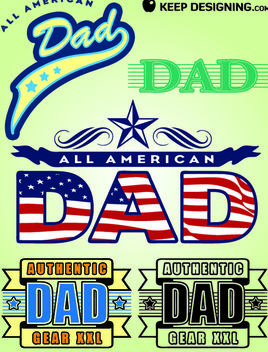 Fathers Day Design Elements - Free vector #180625