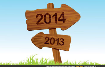 2013 to 2014 change of the year concept - vector gratuit #180635