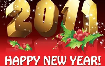 2011 New Year vector - Free vector #180655