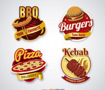 Kebab and BBQ logos - vector gratuit #180695