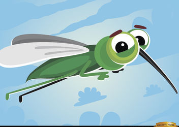 Cartoon Mosquito flying insect - Free vector #180775