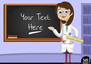 Teacher with blackboard in class - vector gratuit #181055