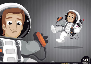 Astronaut Cartoon Character - Free vector #181125