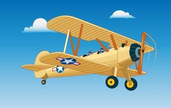 Vintage Aircraft Flight - Free vector #181165