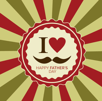 I love my Father retro design - vector gratuit #181175