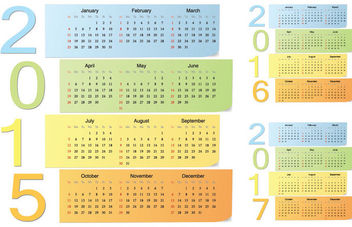 Simplistic Long Sticky Note 2015 Calendar - vector #181195 gratis