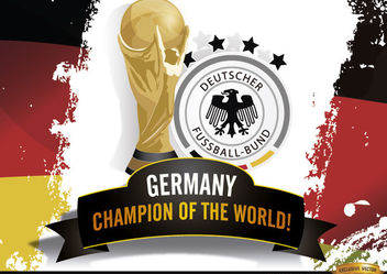 Germany Champion of Brazil 2014 Worldcup - Kostenloses vector #181205